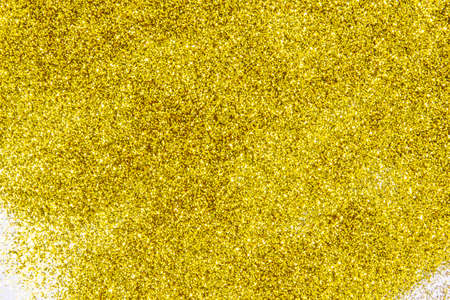 a composition with beautiful gold glitter. Background and texture of gold glitter. Luxury gold glitter sparkle shining texture background