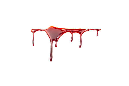 A blood spatter. A blood flowing down. Bloody pattern. Concepts of blood can be used in design