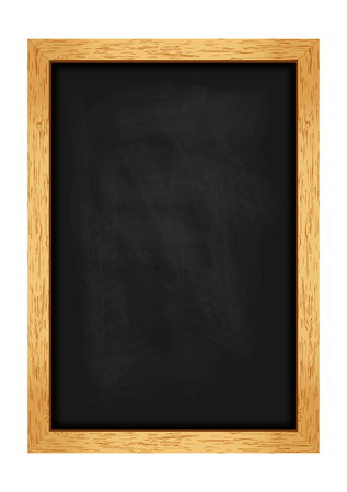 Menu chalkboard for cafes and restaurants. Realistic wooden frame. Vector illustration