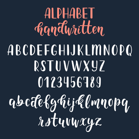 majuscule: White handwritten latin calligraphy brush script with numbers and symbols.