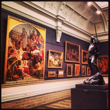 art: Inside of NSW art gallery in Sydney, Australia.