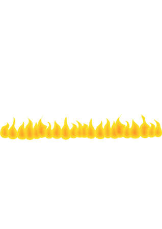 Fire wall. Isolated Abstract Background or Headline Vector Illustration Vector