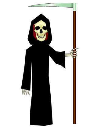 death with scythe Isolated Vector Illustration Vector