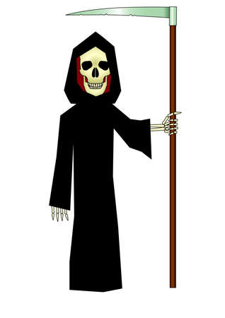 specter: death with scythe Isolated Vector Illustration