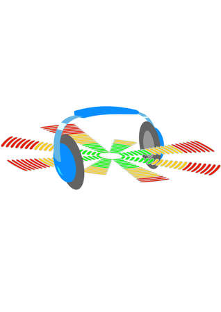 Headphones and equalizer.Isolated Abstract Background Vector Illustration Stock Vector - 5198320