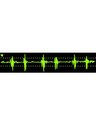 cardiogram. Background Vector Illustration Vector