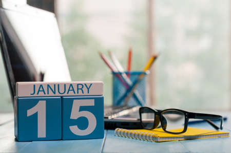 medical assistant: January 15th. Day 15 of month, calendar on Medical Assistant workplace background.