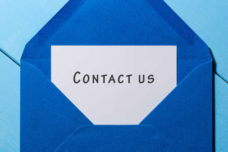 customercare: Contact Us - mail message at blue envelope