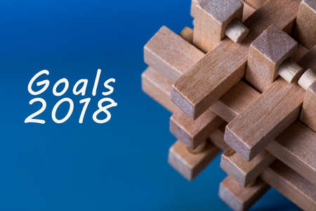 Goals 2018 - Targets, goal, dreams and New Years promises for the next year Stock Photo