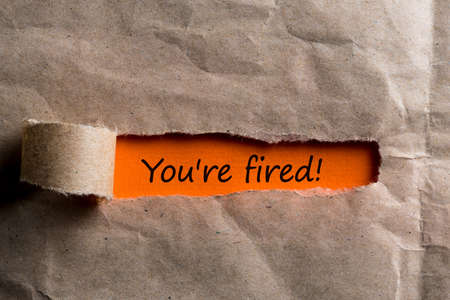 Youre Fired Concepts - uncover envelope with notice of termination or dismissal