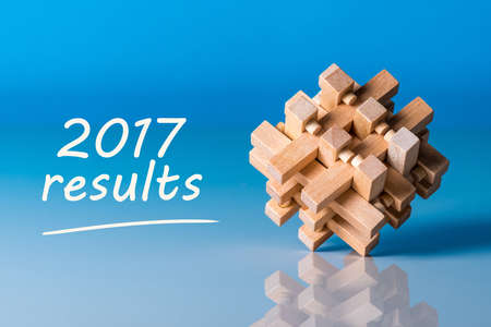2017 results. Year review concept. Time to summarize and plan goals for the next year. Stock Photo