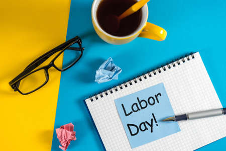 Happy Labor day image, 1st of May office background Фото со стока