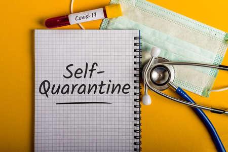 Self-Quarantine. The office is Quarantined, advice to work from home . Pandemic Covid-19 Coronavirus quarantine concept