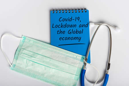 Covid-19 Lockdown and global economy. Coronavirus and finance crisis concept Stok Fotoğraf