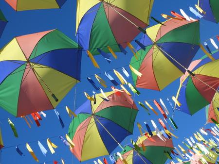 Symbol of the culture of Pernambuco, state of Brazil. Frevo, umbrella, music, dance, culture of Recife. Photographed in Porto de Galinhas beach, Pernambuco, Brazil. Imagens - 117105112