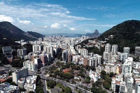 Aerial view of Rio de Janeiro, Brazil. Great landscape. Famous wonderful city. Travel destination. Tropical travel. Vacation destination.