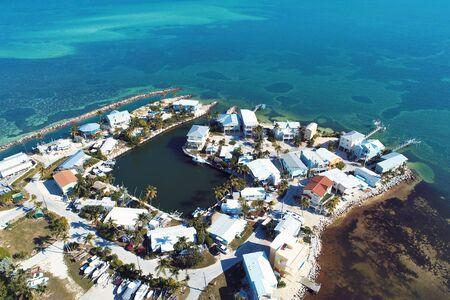 Aerial landscape of nearest Key West, Florida Keys, United States 写真素材