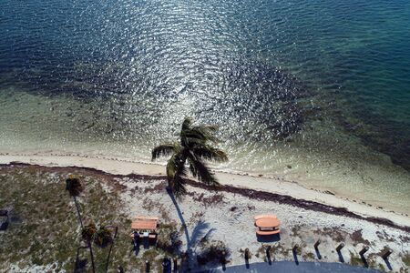 Aerial landscape of nearest Key West, Florida Keys, United States Stok Fotoğraf