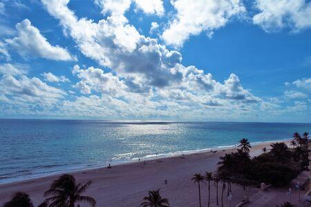Aerial view of coast of United States nearest Miami Beach