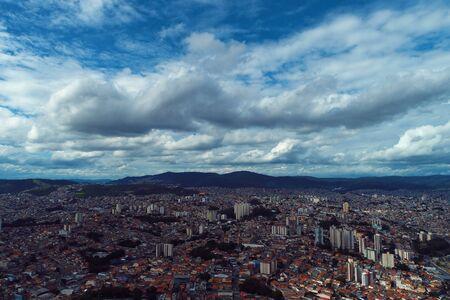 Aerial landscape of city life scene. Great landscape 写真素材