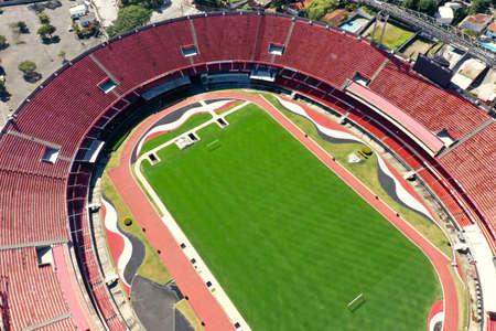 Panoramic view of Cicero Pompeu de Toledo Stadium. Great landscape. Morumbi Stadium.