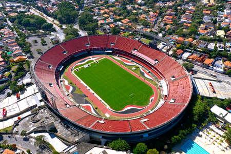 S?o Paulo, S?o Paulo, Brazil - 06/07/2020 - Panoramic view of Cicero Pompeu de Toledo stadium. Great landscape. Morumbi Stadium.