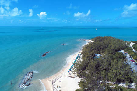 Aerial view of islands of Key West, Florida Keys, United States. Great landscape. Vacation travel. Travel destination. Tropical scenery. 新聞圖片