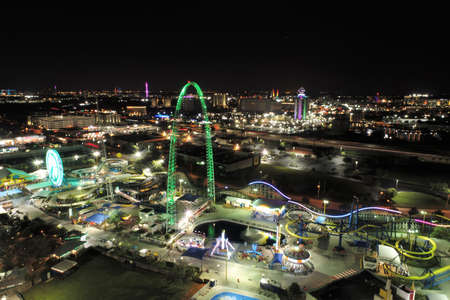 Aerial view of Theme Parks. Orlando, Florida, United States of America 新聞圖片