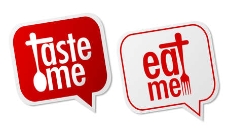 eat me: Taste me and Eat me stickers