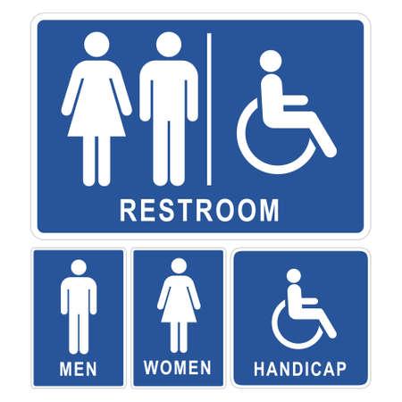 보편적 인: 화장실 표지판