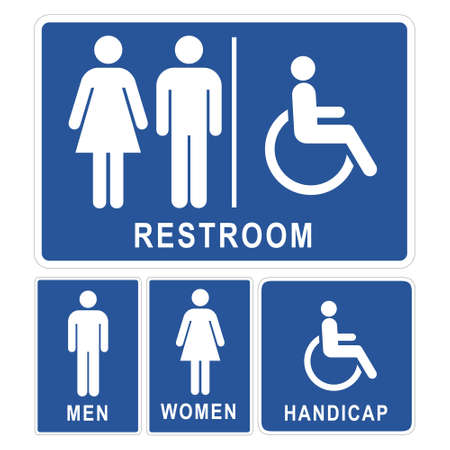 handicapped: Restroom sign