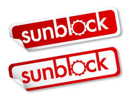 Sunblock stickers Stock Vector - 13952863