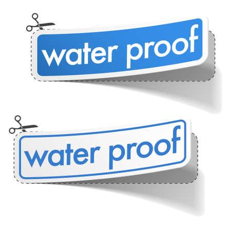 rainproof: Water proof stickers  Illustration