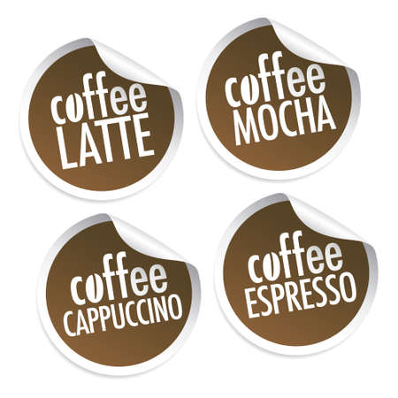 best coffee: Latte, Mocha, Cappuccino and Espresso stickers