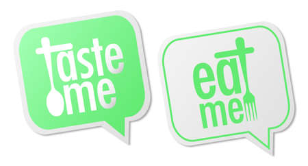Taste me and Eat me stickers Stock Vector - 15470315