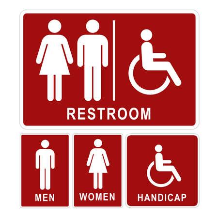 Restroom segno Archivio Fotografico - 24194067