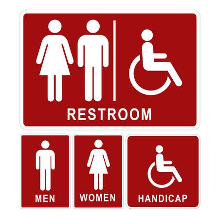 wc sign: Restroom sign