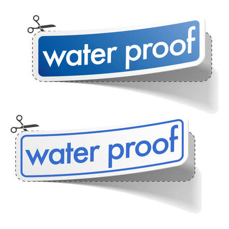 Water proof stickers  Vector