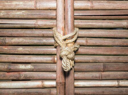 node: node on bamboo wall