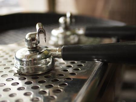 Portafilter on espresso machine