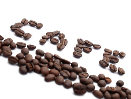 coffee beans text as cafe Stock Photo - 17693019