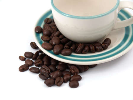 espresso cup and coffee beans Stock Photo - 17693032