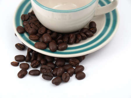 espresso cup and coffee beans Stock Photo - 17693035