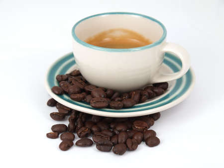 espresso cup and coffee beans Stock Photo - 17693021