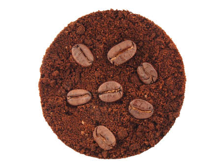 Coffee seed on coffee ground Stock Photo - 17851344