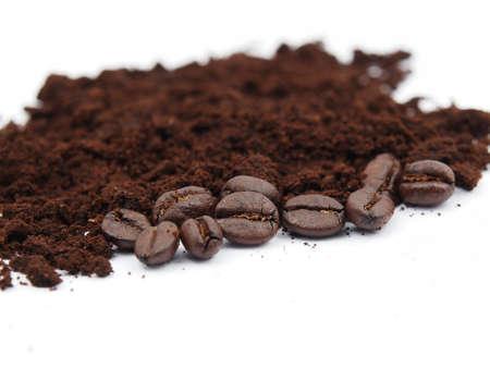 Coffee seed on coffee ground Stock Photo - 17851325