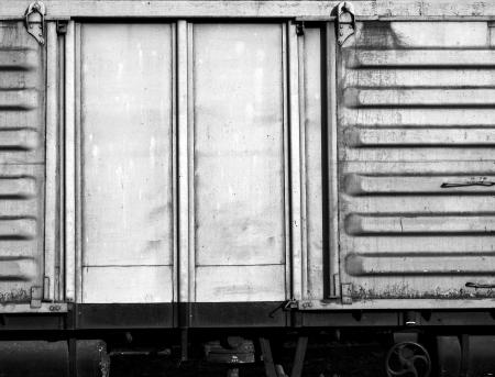 bogie: metal door of container bogie Stock Photo