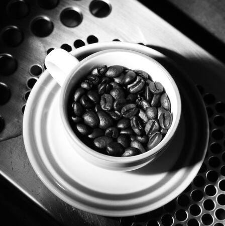 A cup of coffee beans, monotone color Stock Photo - 19968111