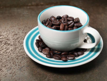 A cup of coffee beans Stock Photo - 19968132