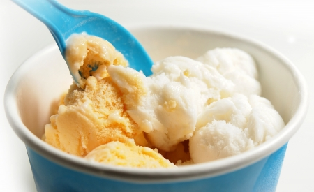 a cup of icecream Stock Photo